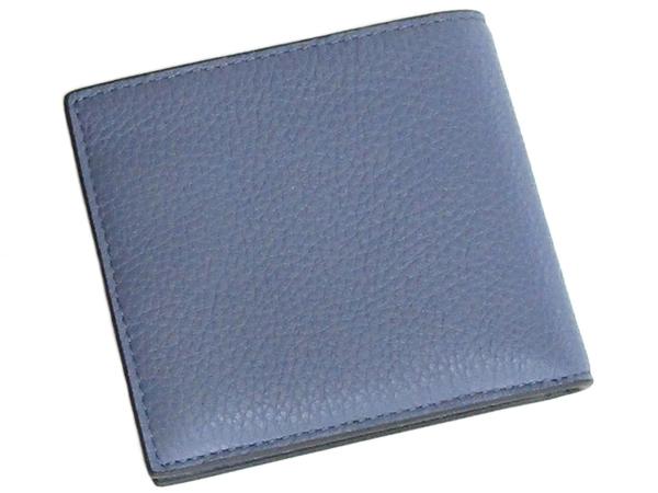 コーチ 二つ折り財布C3422水色 背面