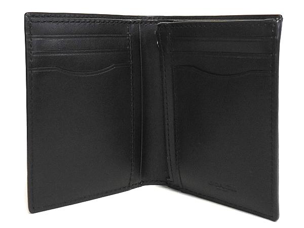 コーチ メンズ 二つ折り財布F11970黒 カード入れ