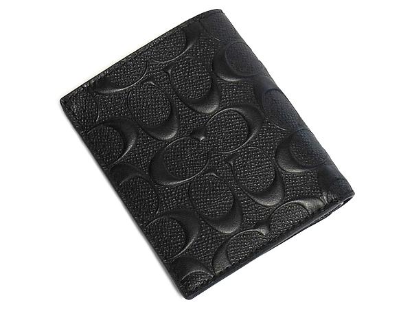 コーチ メンズ 二つ折り財布F11970黒 外装