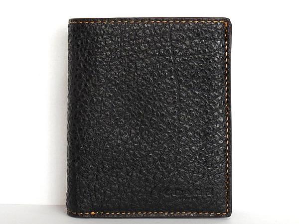 コーチ メンズ 二つ折り財布F11989黒 正面