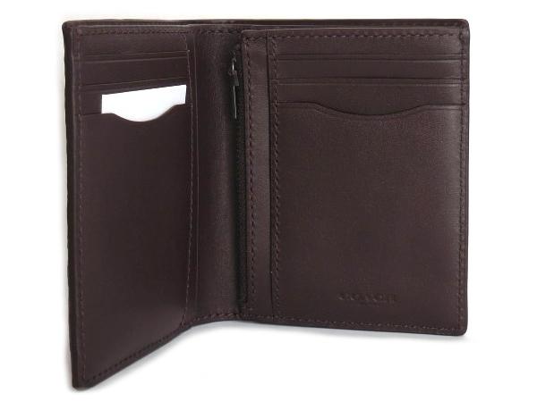 コーチ メンズ 二つ折り財布F11989黒 内装