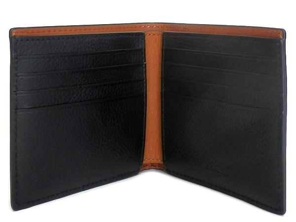 コーチ メンズ二つ折り財布F24647黒 カード入れ