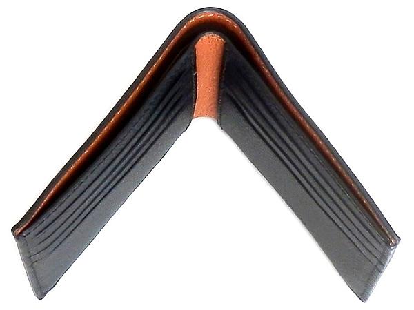 コーチ メンズ二つ折り財布F24647黒 天面