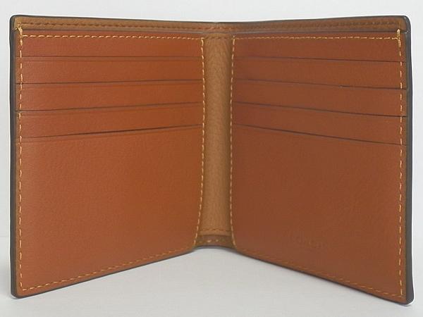 コーチ メンズ二つ折り財布F24647サドル カード入れ