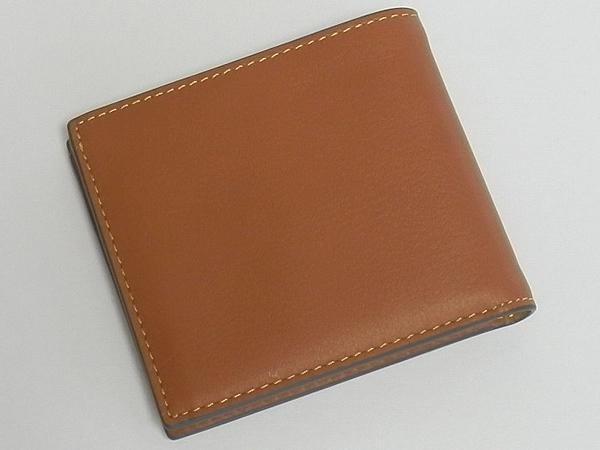 コーチ メンズ二つ折り財布F24647サドル 背面