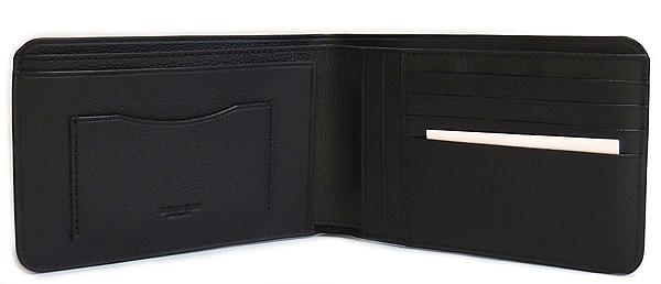 コーチ メンズ 二つ折り財布F24749黒 内装