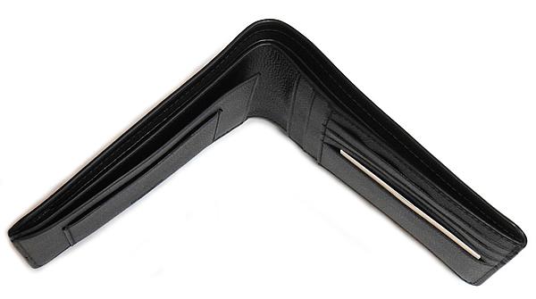 コーチ メンズ 二つ折り財布F24749黒 天面