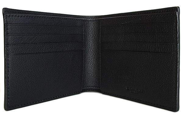 コーチ メンズ 二つ折り財布F64118黒 カード入れ