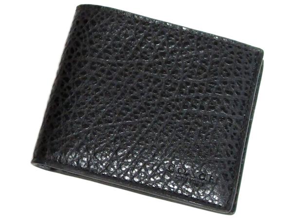 コーチ メンズ二つ折り財布F67654黒 前面