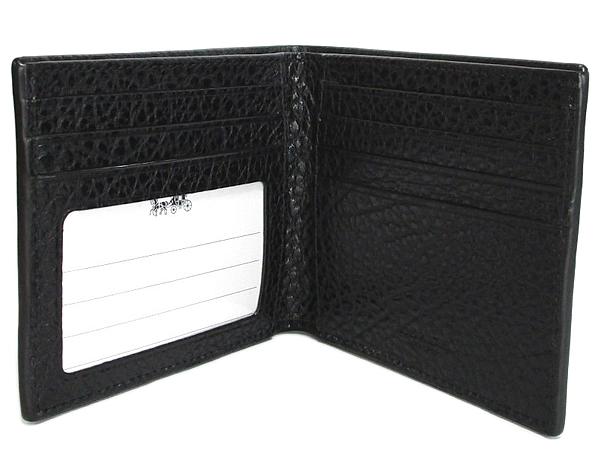 コーチ メンズ二つ折り財布F67654黒 カード入れ