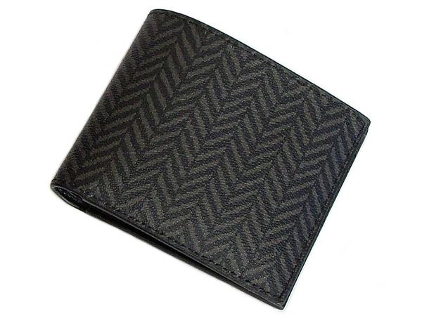 コーチ メンズ 二つ折り財布F73117黒 前面