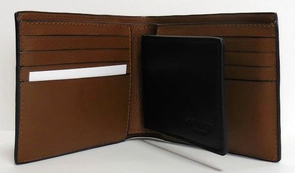 コーチ メンズ 二つ折り財布F75170黒 パスケース