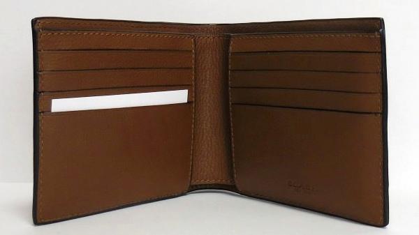 コーチ メンズ 二つ折り財布F75170茶色 内装