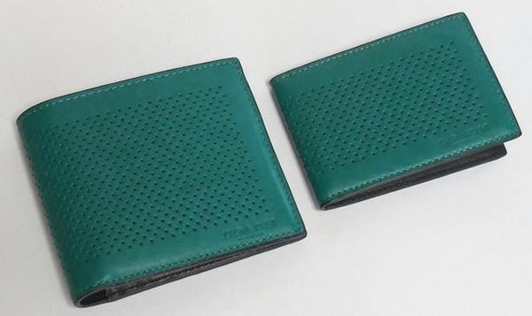 コーチ メンズ 二つ折り財布F75197緑 パスケース