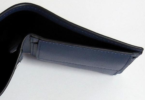 コーチ メンズ 二つ折り財布F75394青 札入れ