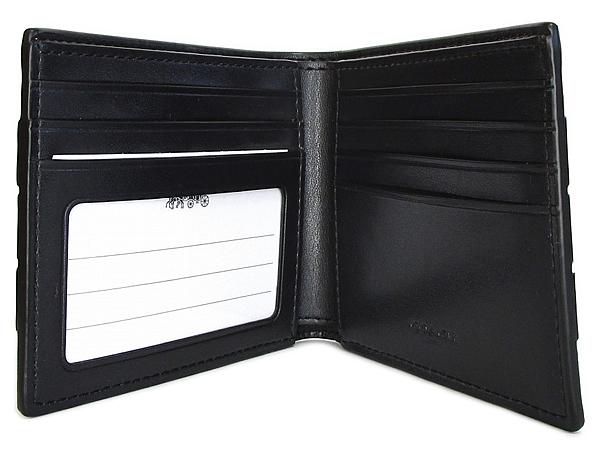 コーチ メンズ 二つ折り財布F86110タン カード入れ