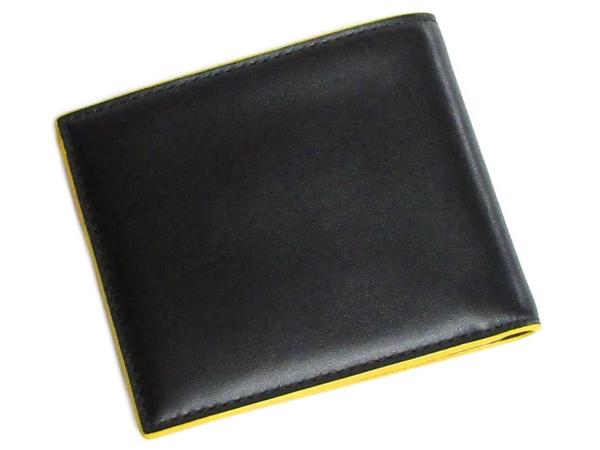 コーチ メンズ二つ折り財布F88135黒黄色 背面