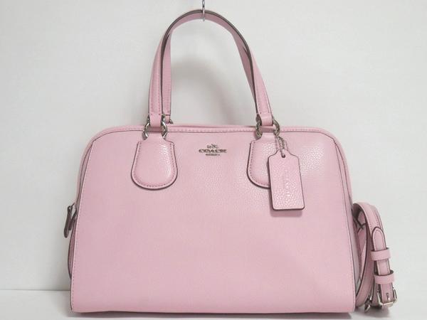 コーチ ミニハンドバッグ35650ピンク 正面