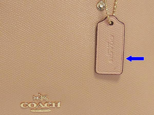 コーチ ミニハンドバッグF27591ベージュ タグ汚れ