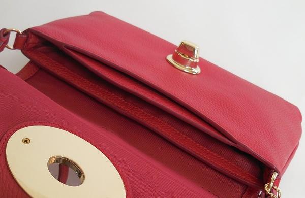 コーチ 斜めがけバッグF52896赤 ポケット