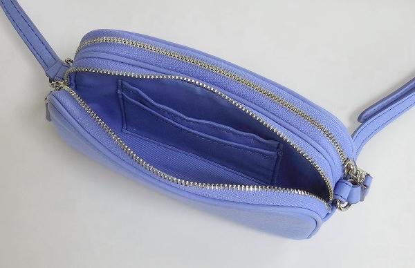 コーチ 斜めがけミニバッグF53372青 カードポケット