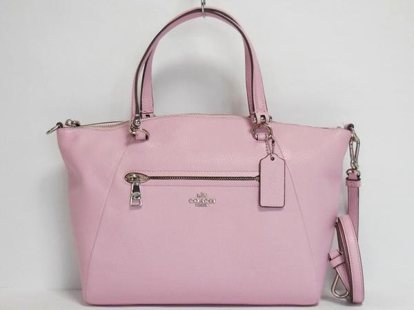 コーチ ハンドバッグ34340淡いピンク