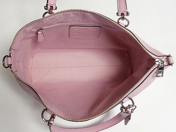 コーチ ハンドバッグ34340淡いピンク 荷室