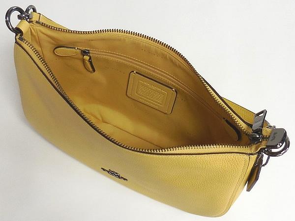 コーチ 斜めがけバッグ56819黄色 内装