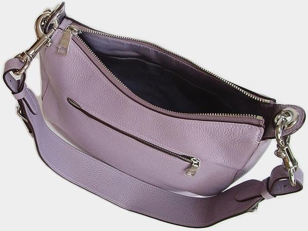 コーチ ショルダーバッグF76695薄紫 背面