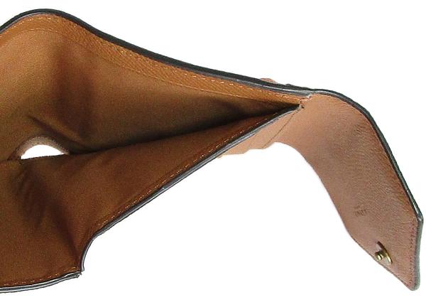 コーチ 三つ折り財布12123グレージュベージュオレンジ 札入れ