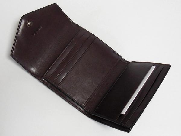 コーチ 三つ折り財布22886茶色 カード入れ