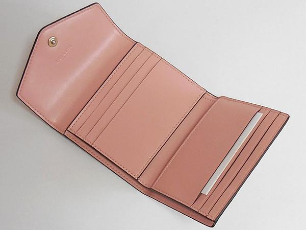 コーチ 三つ折り財布27112花柄ピンク カードポケット