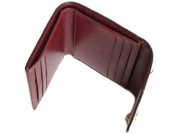 コーチ 三つ折り財布32486ピンク カード入れ