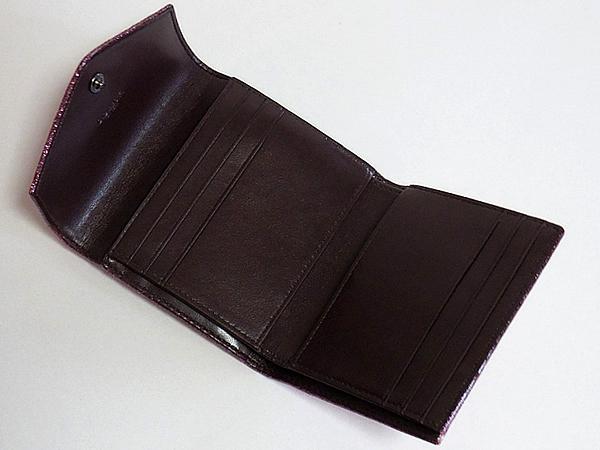 コーチ 三つ折り財布59972ピンク カード入れ