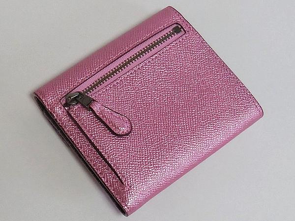 コーチ 三つ折り財布59972ピンク 背面