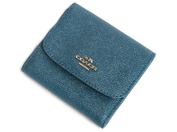 コーチ アウトレット コンパクト財布F15622濃い緑