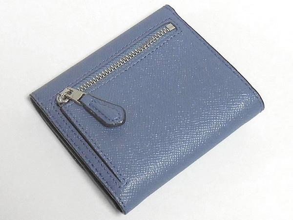 コーチ コンパクト財布F15622ダスクブルー 背面
