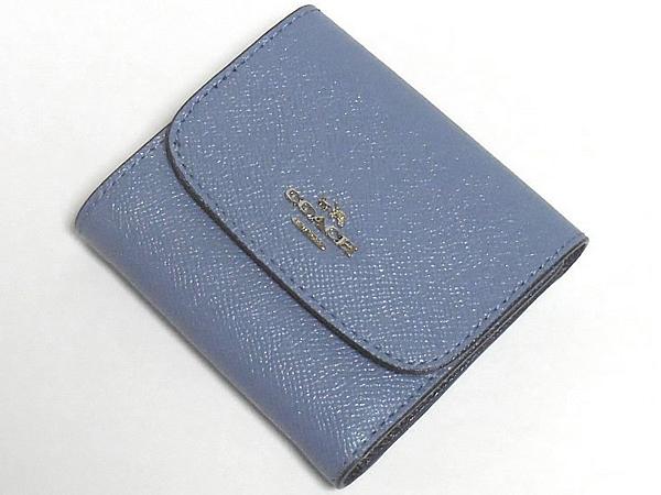 コーチ コンパクト財布F15622ダスクブルー 前面