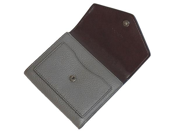 コーチ 三つ折り財布F22899グレー 内装