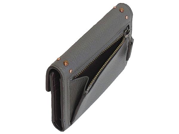 コーチ 三つ折り財布F22899グレー 小銭入れ