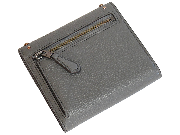 コーチ 三つ折り財布F22899グレー 背面