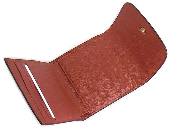 コーチ 三つ折り財布F26458ピンク テラコッタ カード入れ