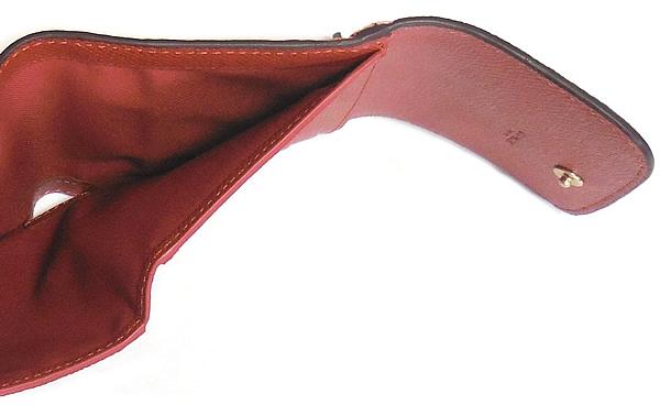 コーチ 三つ折り財布F26458ピンク テラコッタ 札入れ