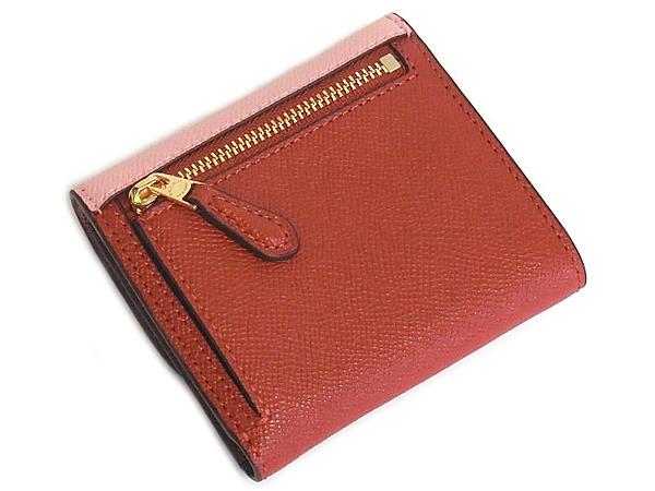 コーチ 三つ折り財布F26458ピンク テラコッタ 背面