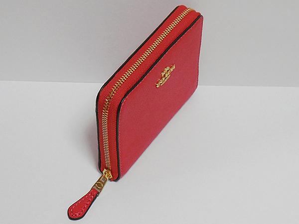 コーチ スモール財布F31553チェリー赤 天面