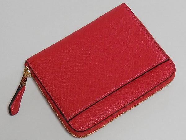 コーチ スモール財布F31553チェリー赤 背面