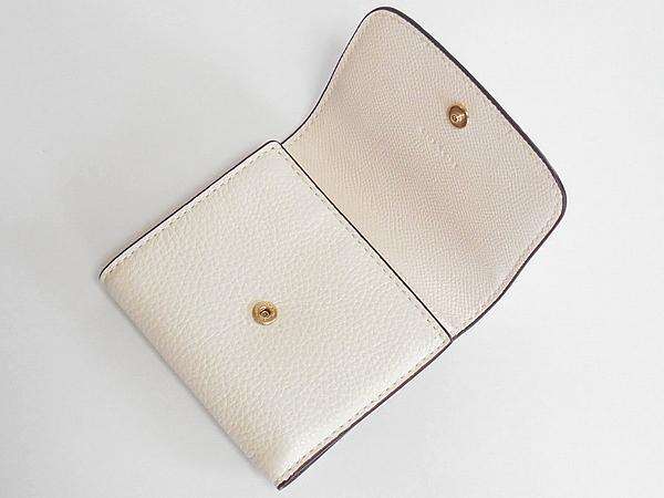 コーチ 三つ折り財布F73381花柄白 内装