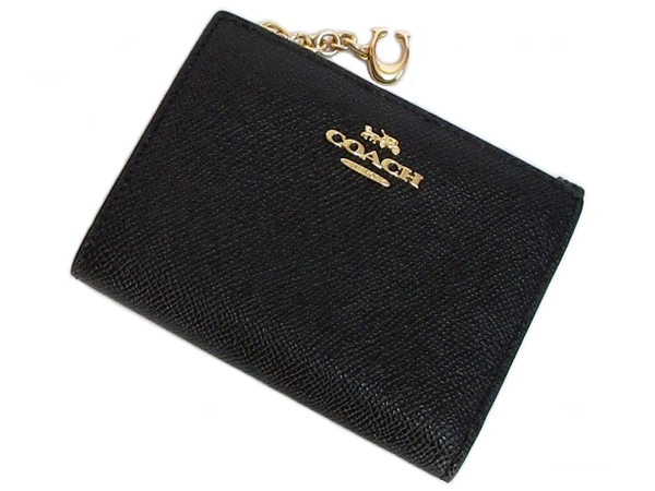 コーチ ミニ財布F73867黒 前面
