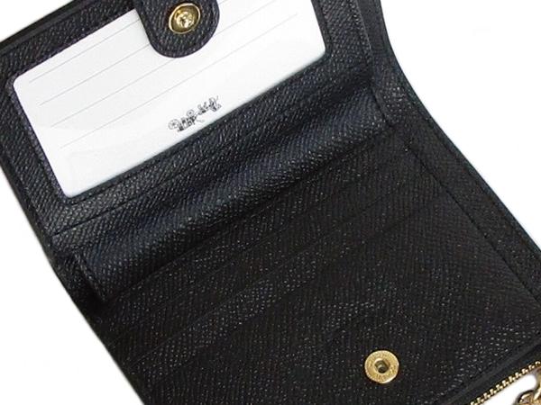 コーチ ミニ財布F73867黒 カード入れ