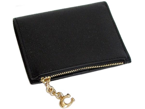 コーチ ミニ財布F73867黒 背面